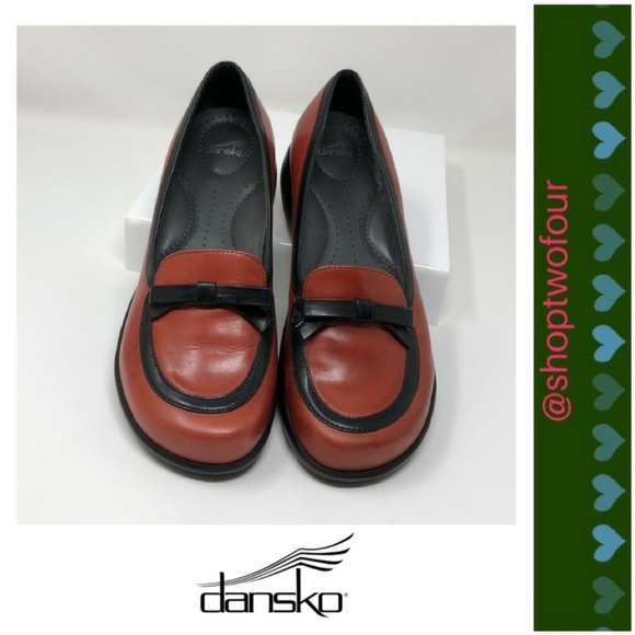 63d5679e98e Dansko Shoes - Dansko Danielle red and black Women s loafers bow